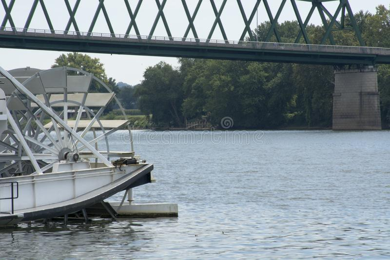 Łódkowaty szczegół przy sternwheel festiwalem zdjęcie royalty free