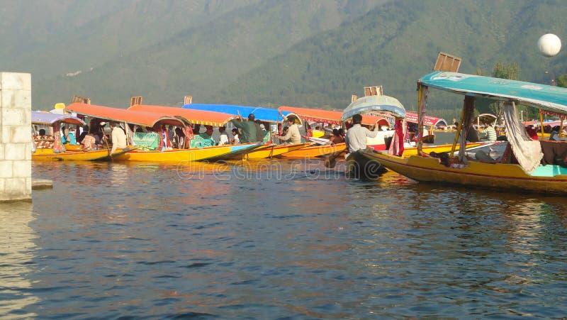 Łódkowaty truizm w Kashmir zdjęcie stock