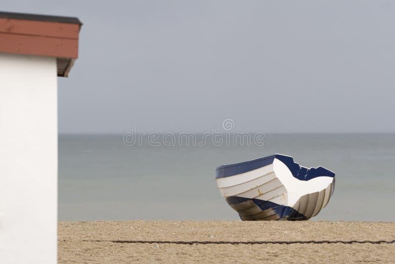 łódkowaty wioślarski morze obraz stock