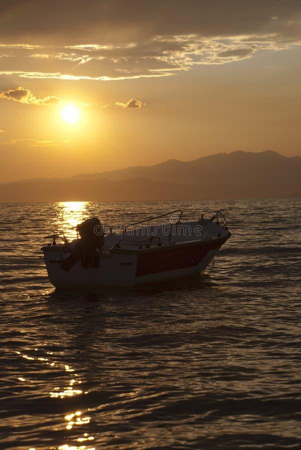łódkowaty zmierzch zdjęcia stock