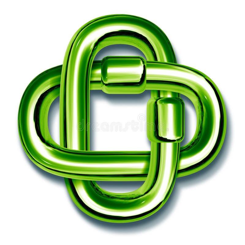 łącząca łańcuszkowa zieleń łączy wpólnie ilustracja wektor
