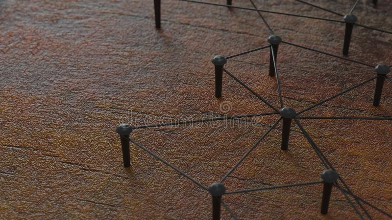 Łącząca konceptualna praca zespołowa Sieć, networking, łączy świadczenia 3 d Łącząca konceptualna praca zespołowa obrazy stock