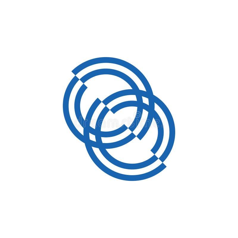 Łączący lampasy łączyli logo wektor ilustracja wektor