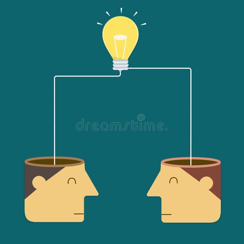 Łączenie pomysły sukces ilustracja wektor