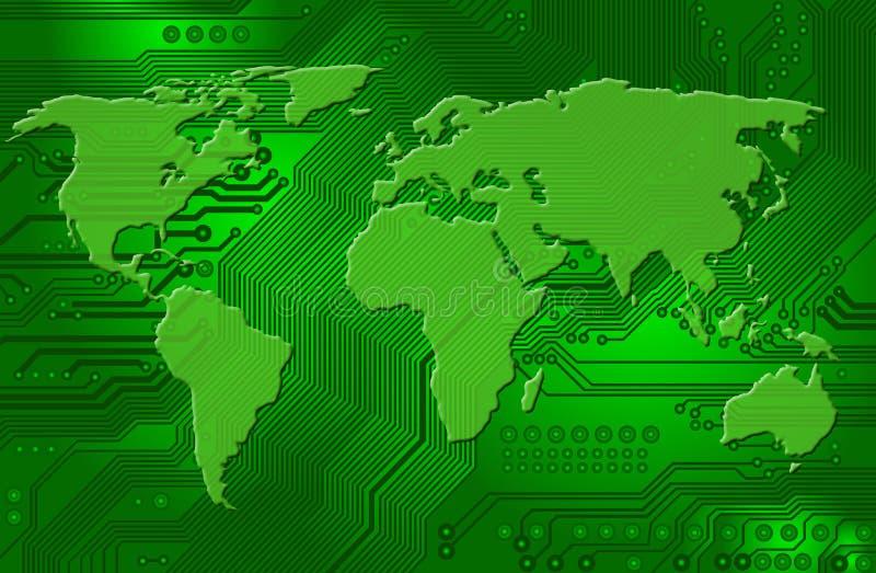 łączliwości zawody międzynarodowe internety ilustracja wektor