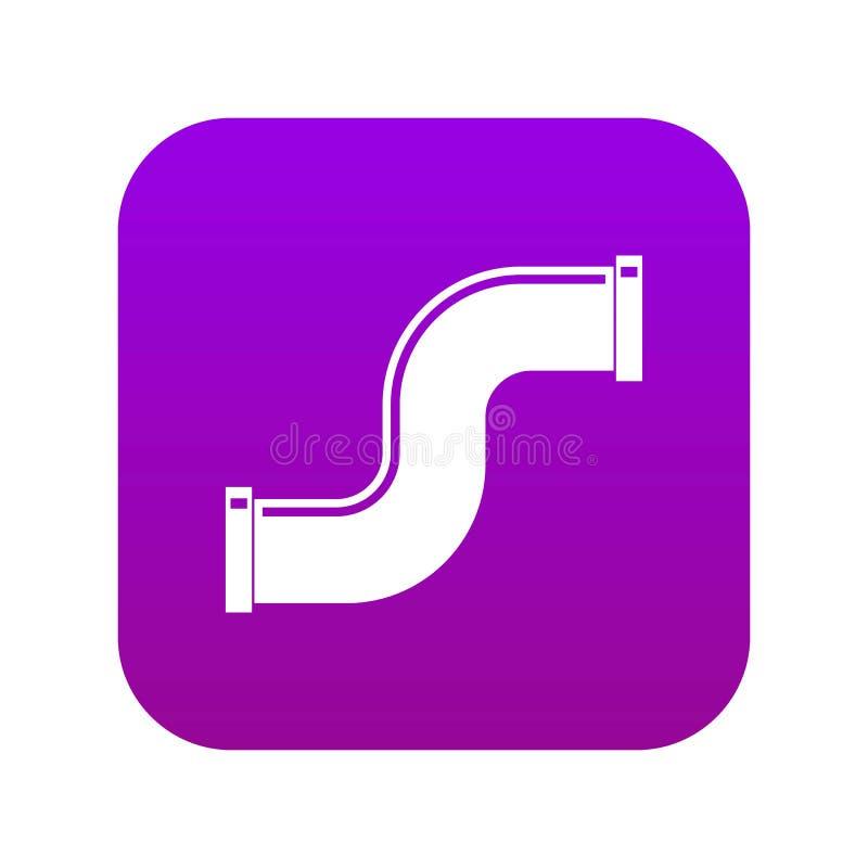 Łączna drymba w formy S listu ikony cyfrowych purpurach ilustracja wektor
