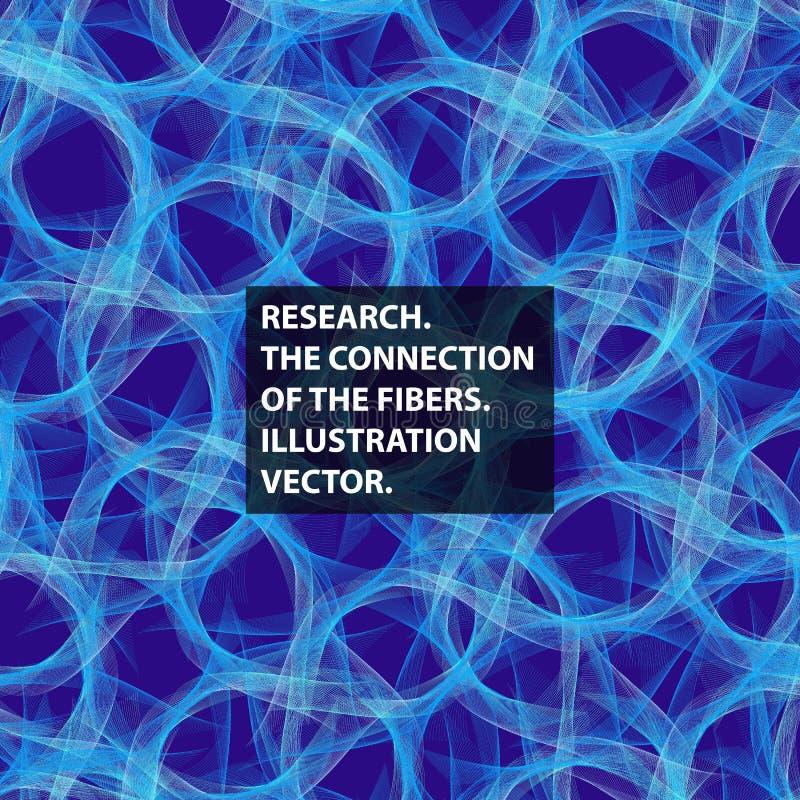 Łącznikowa tkanka, włókno, abstrakcja wektor ilustracji
