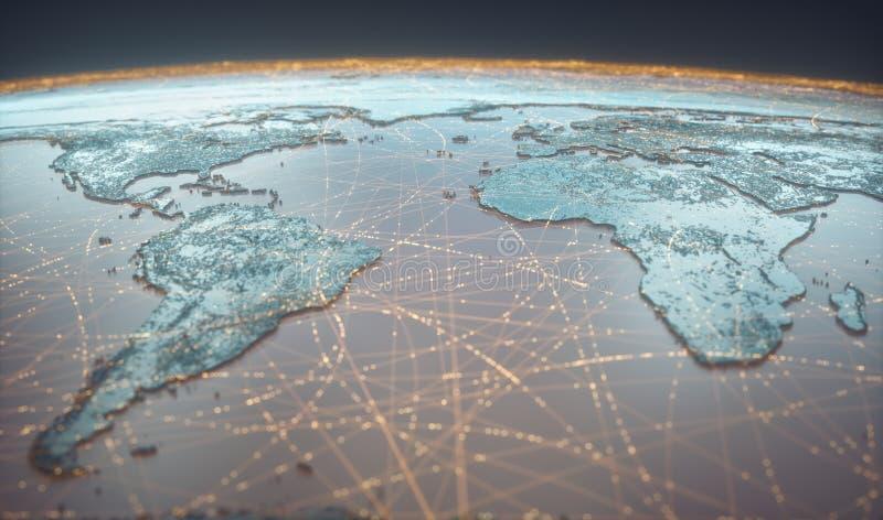 Łączność z technologią cyfrową w sieci WWW obraz royalty free