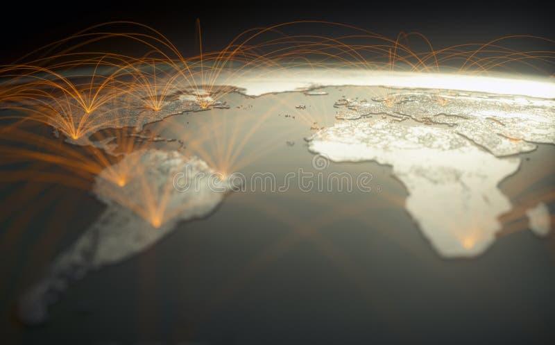Łączność z technologią cyfrową w sieci WWW obrazy stock