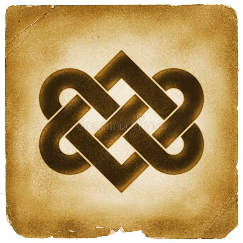 Łączyć kierowego kępka symbolu starego papier ilustracji