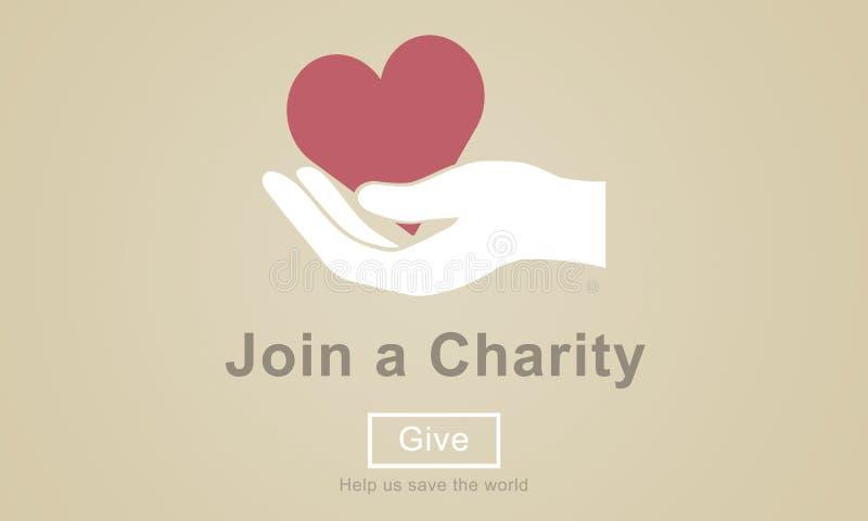 Łączy dobroczynności dobroci opieki Kierowego pojęcie ilustracji