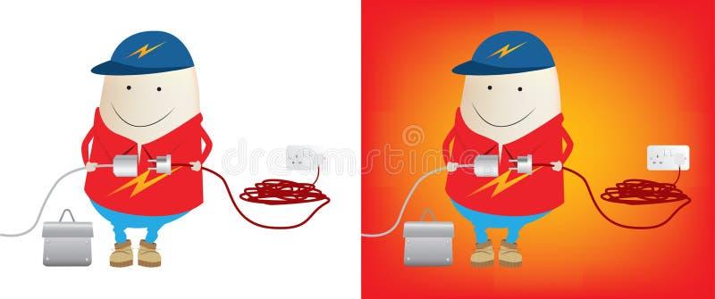 łączy elektryk władzę royalty ilustracja