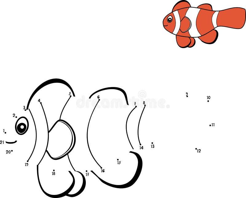 łączy kropki ilustracja wektor