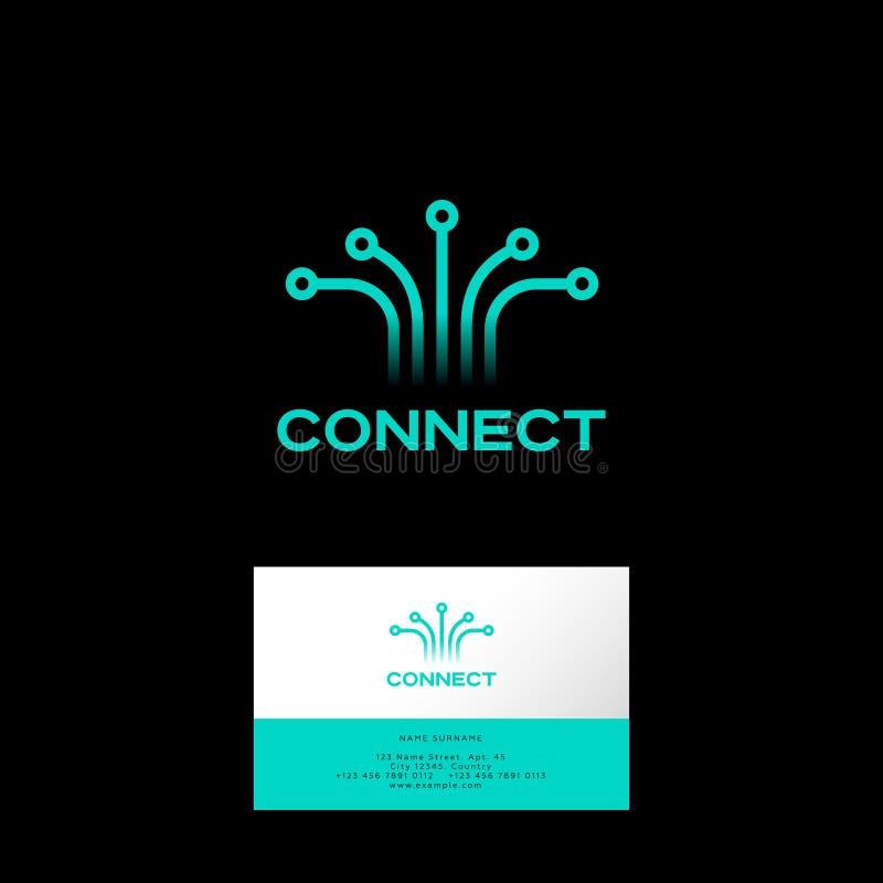Łączy logo, sieć, UI ikona Technologia bezprzewodowa, Internetowy emblemat royalty ilustracja