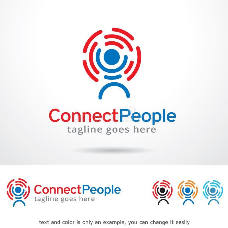Łączy ludzi loga szablonu projekta wektoru ilustracja wektor