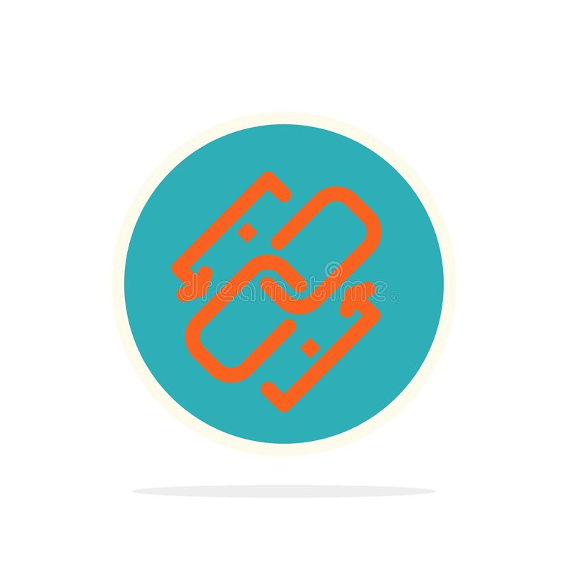 Łączy, Przykuwa, Url, związek, Kulisowego Abstrakcjonistycznego okręgu tła koloru Płaska ikona ilustracja wektor