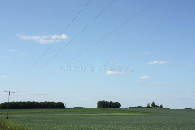 Łąkowe i zasięrzutne linie zdjęcia stock
