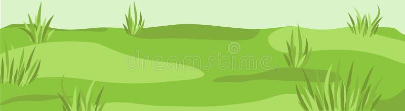 Łąkowy obszaru trawiastego nieba pola trawy lea dwójniaka gazonu grassplot zieleni b royalty ilustracja