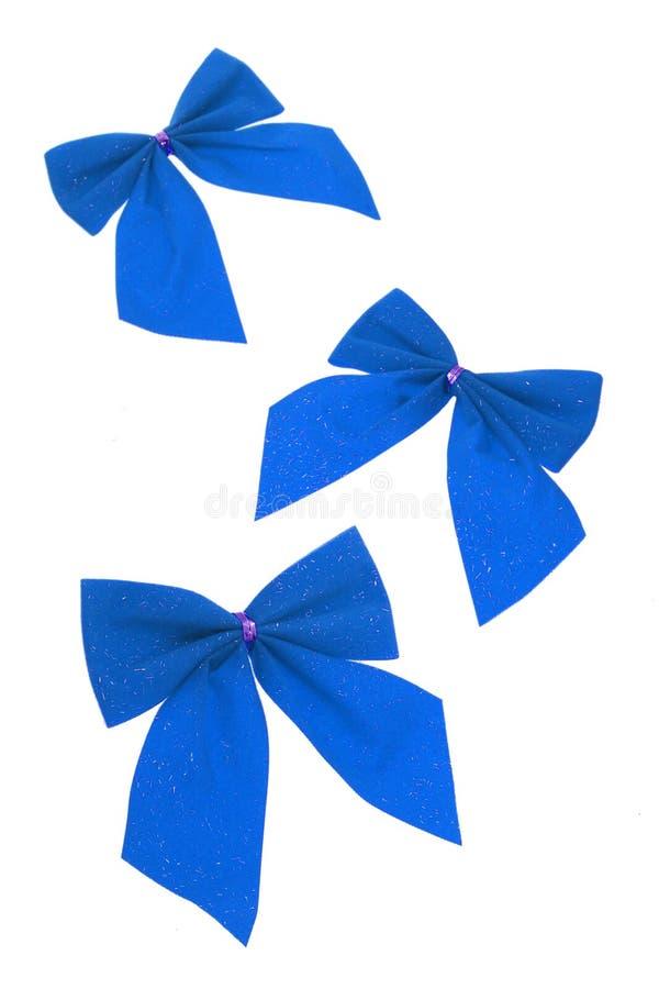 łęków błękitny faborki trzy fotografia stock