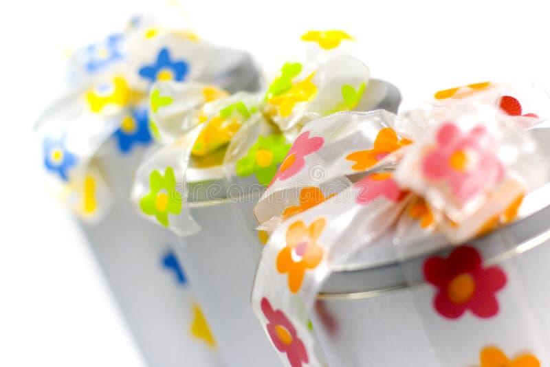 łęków pudełek kolorowy prezent obrazy royalty free
