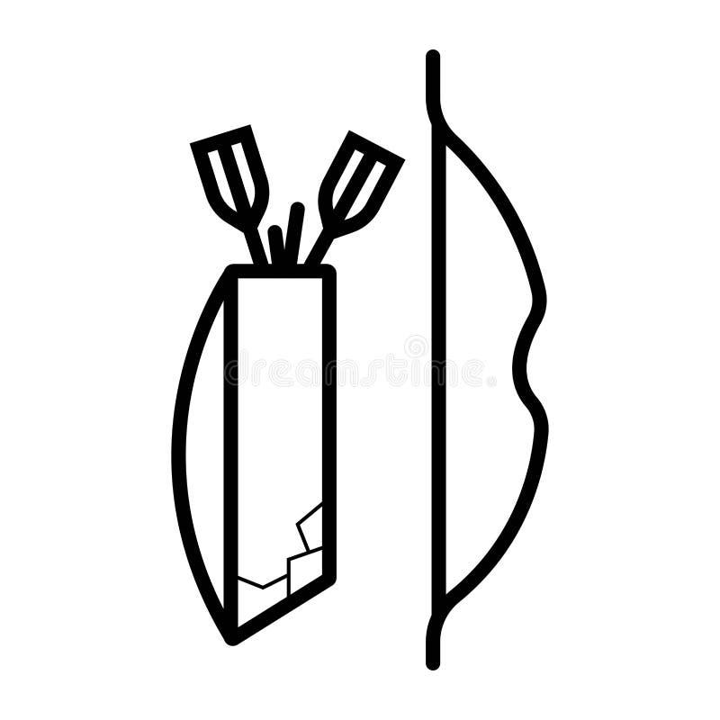 Łęk i strzała ilustracji