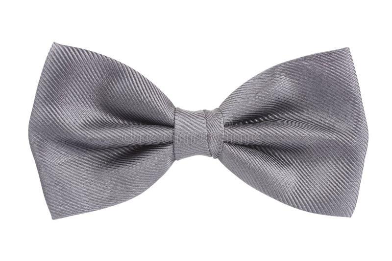 łęk odizolowywający nad srebnym krawata bielem zdjęcia stock