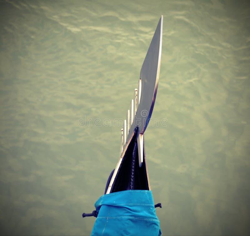 Łęk typowa Wenecka statek gondola z antykwarskim skutkiem obrazy royalty free
