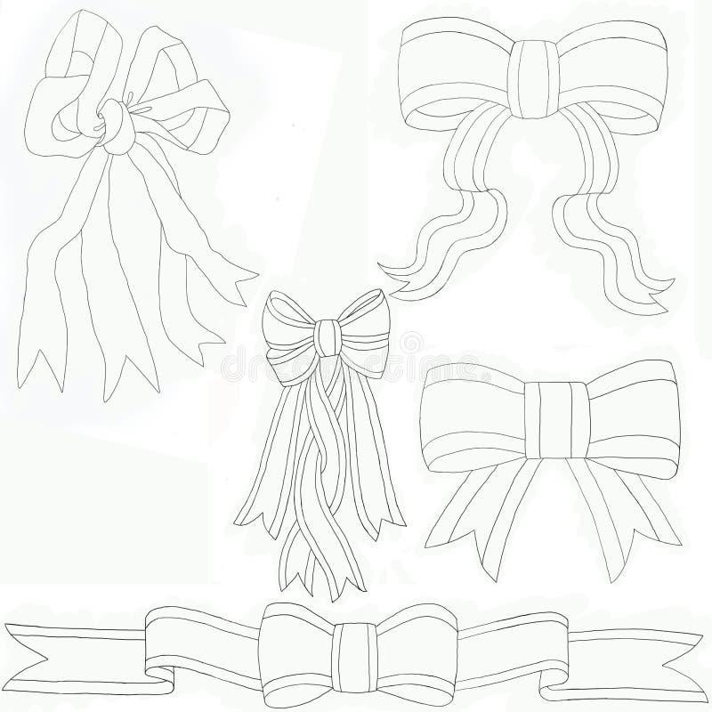 Łęki Dobierali czerń & biel ilustracji