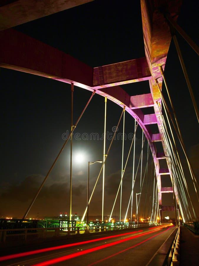 łękowata bridżowa księżyc zdjęcia stock