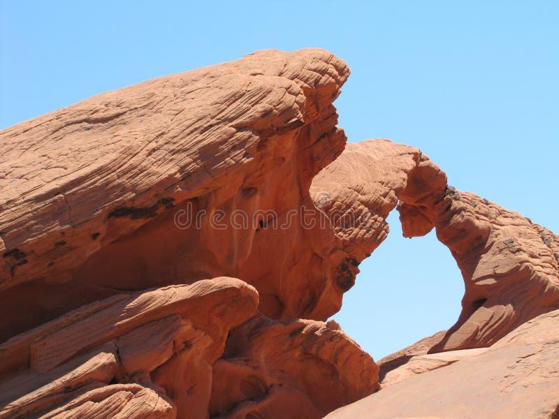 Łękowata skała, dolina ogień zdjęcia royalty free