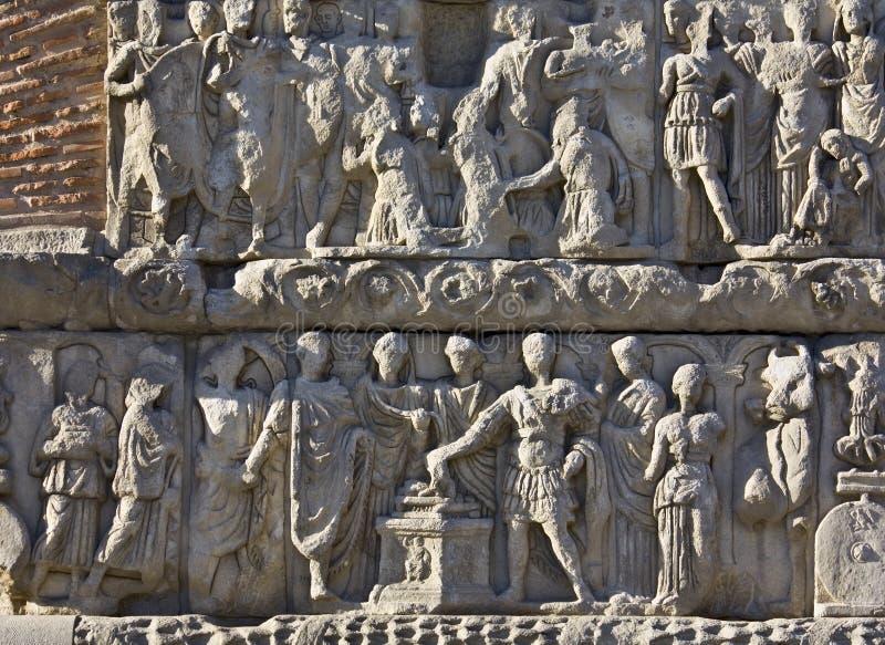 łękowata szczegółu galerius ulga Thessaloniki zdjęcie stock
