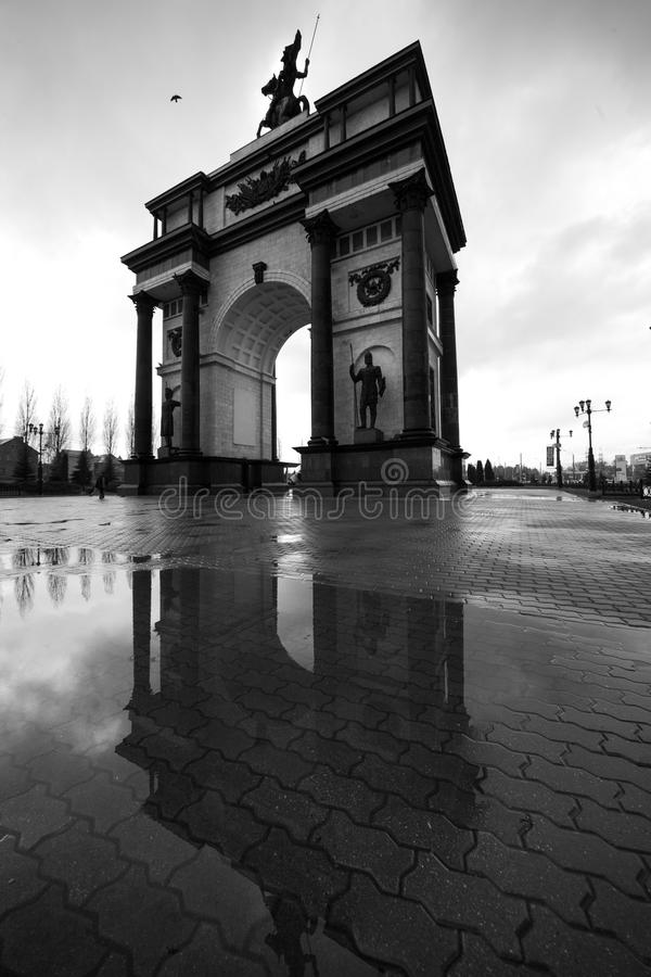 łękowatego miasta dzień krajobrazu Paris pogodny triumfalny Kursk, Rosja fotografia royalty free