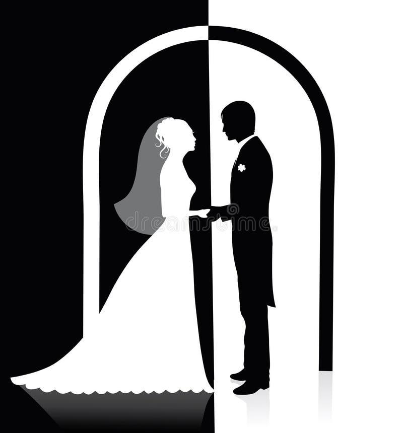 łękowaty ślub royalty ilustracja