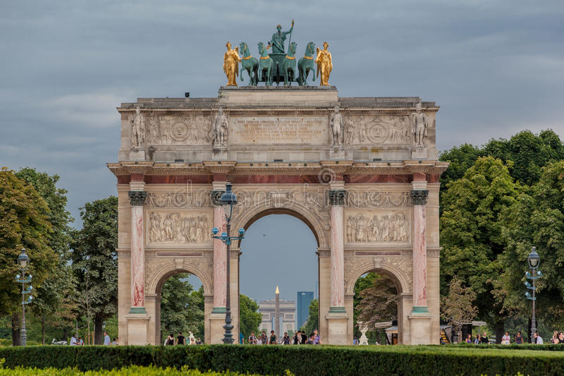 łękowaty carrousel France Paris triumf obrazy stock