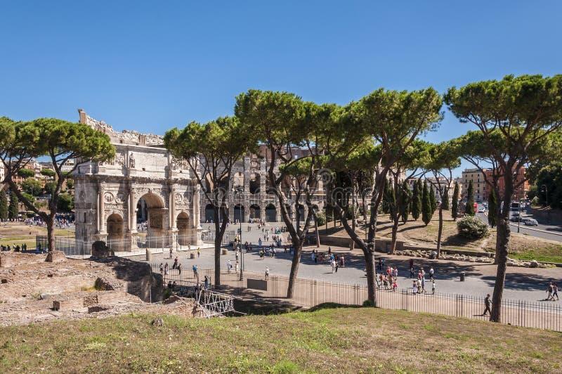 łękowaty colosseum Constantine zdjęcia stock