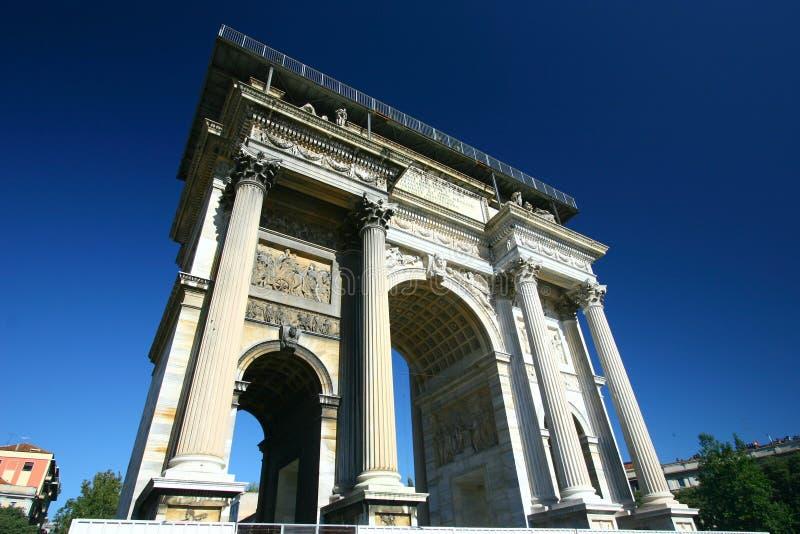 łękowaty Italy Milan triumfalny zdjęcie stock