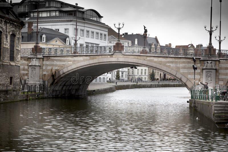 Łękowaty most przez rzekę, święty Michael fotografia stock