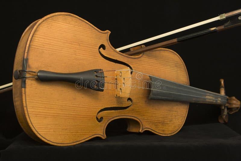łęku antykwarski skrzypce fotografia royalty free