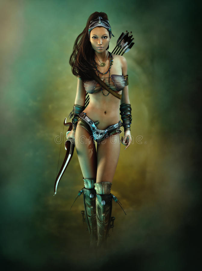Łęku Huntress royalty ilustracja