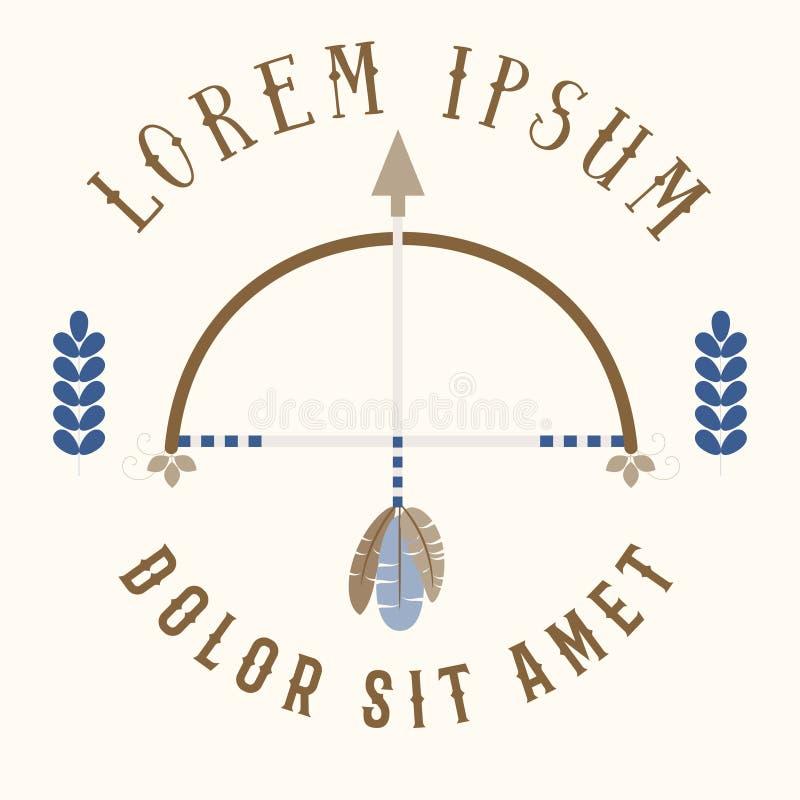 Łęku i strzała logotyp royalty ilustracja