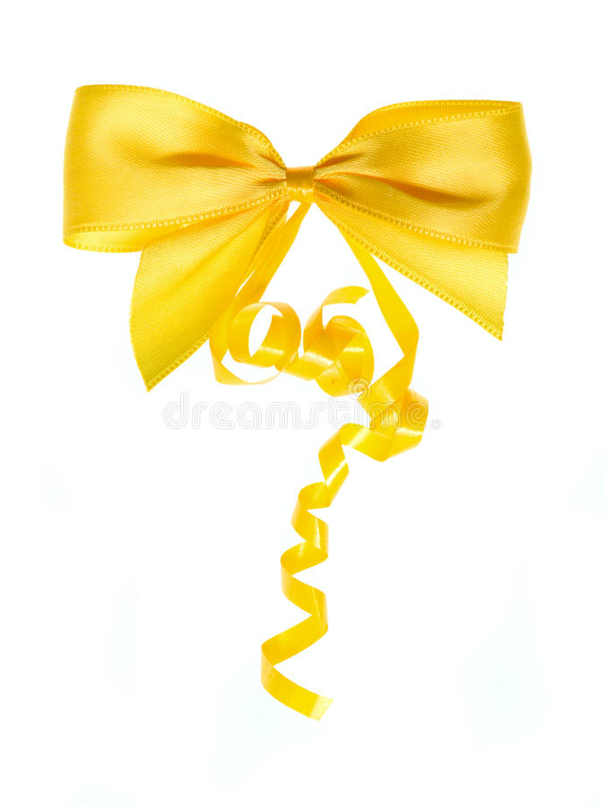 łęku kolor żółty fotografia stock