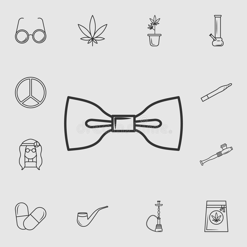 Łęku krawata ikona Szczegółowy set życie stylu ikony Premii ilości graficzny projekt Jeden inkasowe ikony dla stron internetowych royalty ilustracja