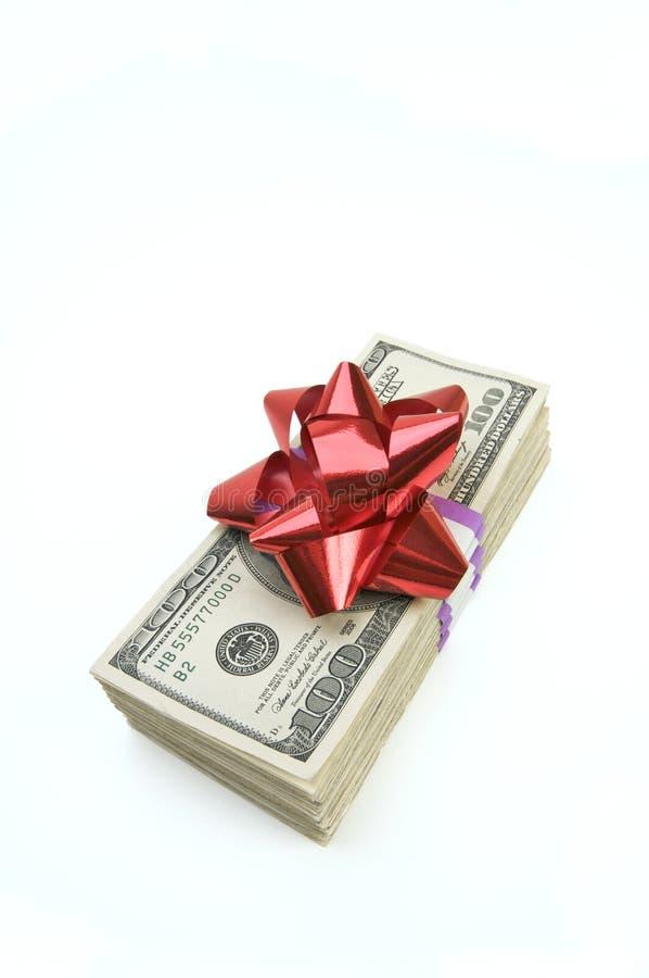 łęku pieniądze sterta obrazy stock