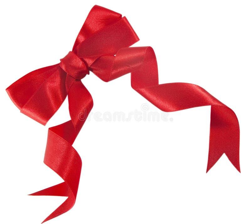 łęku prezenta czerwieni atłas fotografia stock