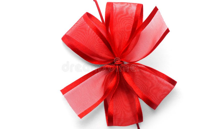 łęku prezenta czerwieni faborek zdjęcie royalty free