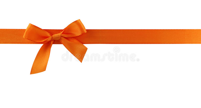 łęku prezenta pomarańcze zdjęcie royalty free