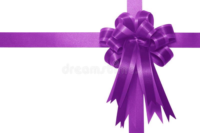 łęku prezenta purpur atłas obrazy royalty free