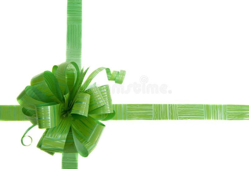 łęku prezenta zieleń zdjęcie stock