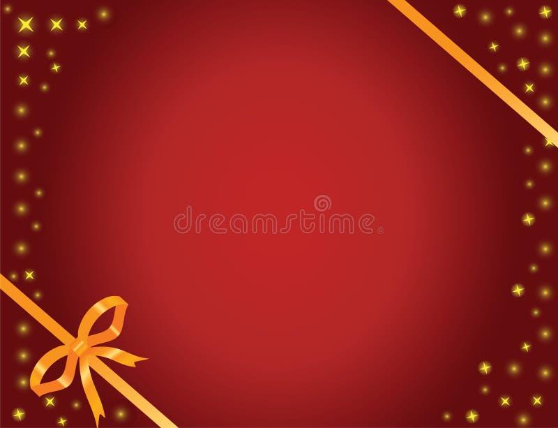 łęku złota gwiazdy royalty ilustracja