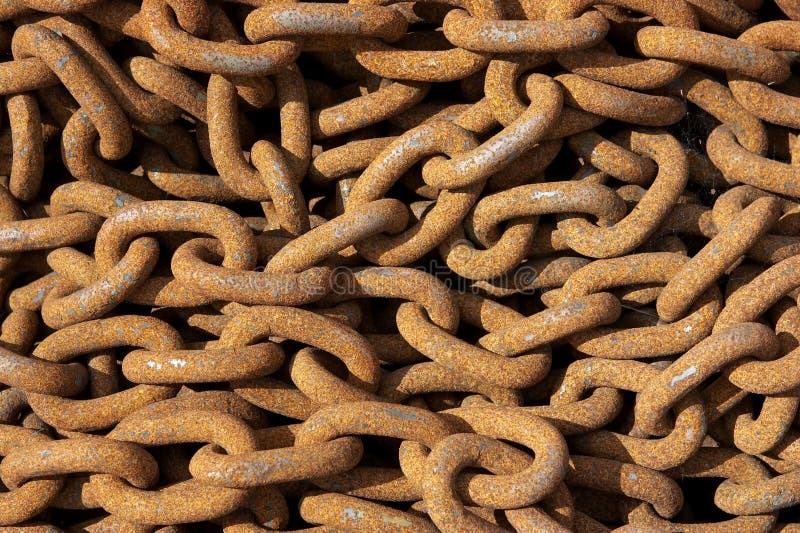 łańcuchów rdzewieć zdjęcia stock